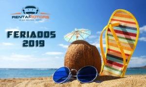 feriados 2019 rentamotors